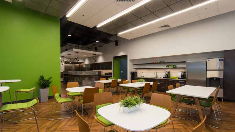 pet food experts corporate headquarters interior design office dining