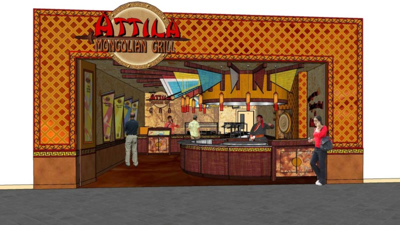 attila mongolian grill brand evolution axon model entrance