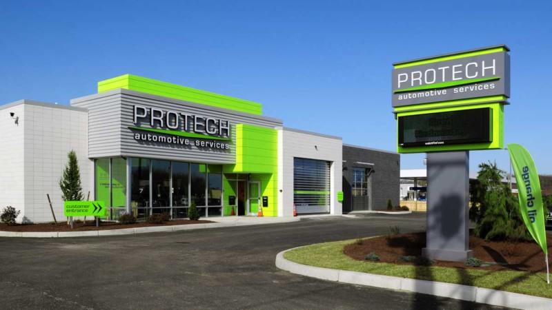 protech automotive services facility building exterior