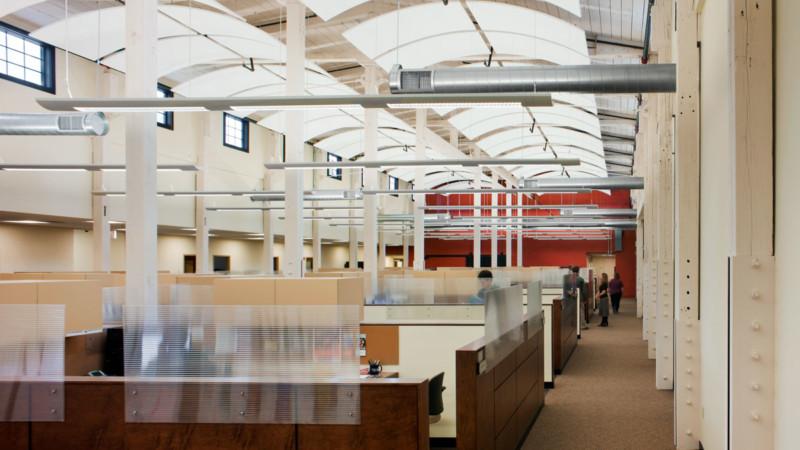 united way headquarters corporate open office providence historic calendar mills lighting