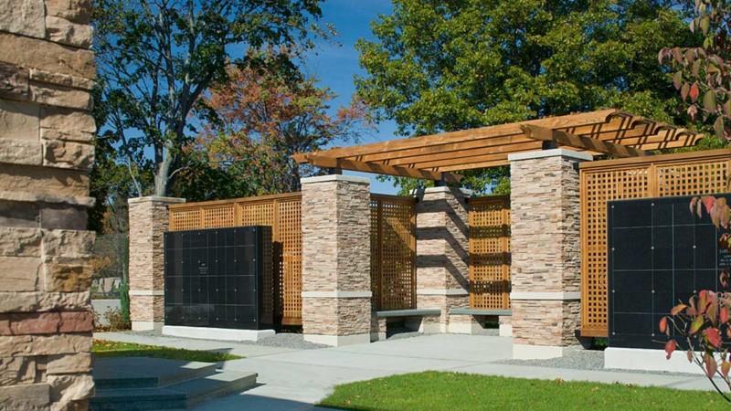 st ann garden mausoleums crypts arbor stone